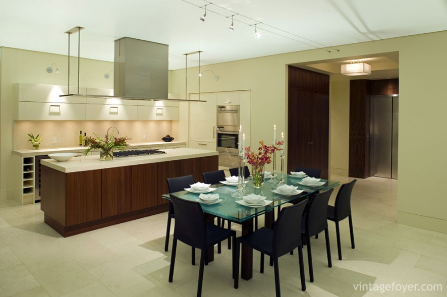 luxury condominium kitchen dining