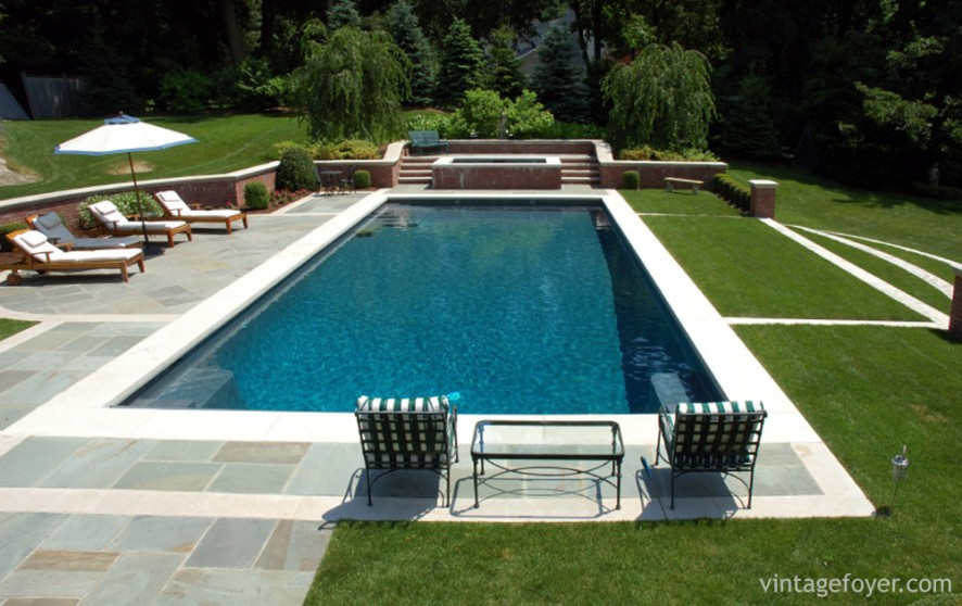 42 gorgeous in ground pool ideas for Simple inground pool designs