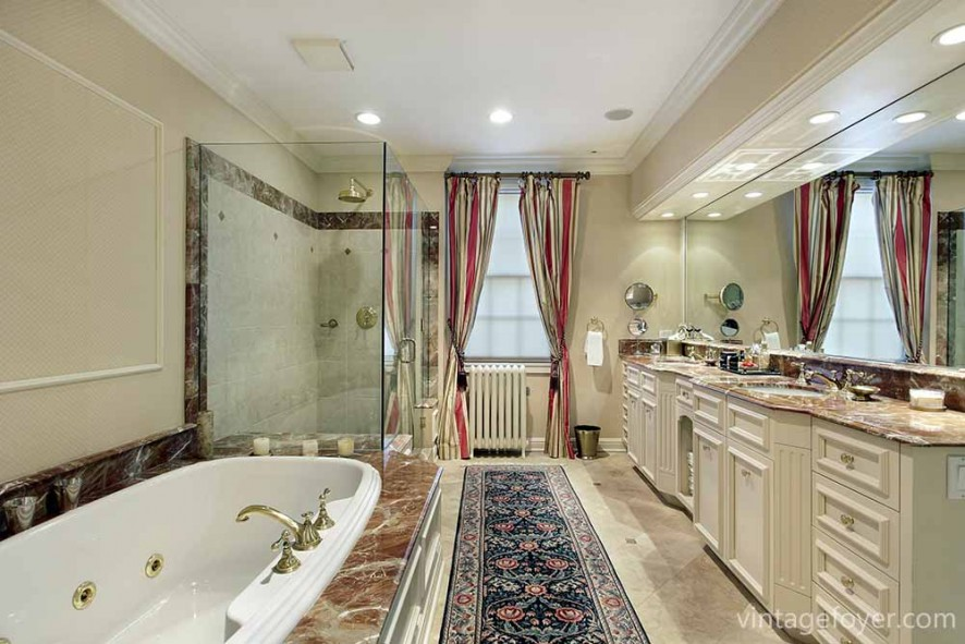 Luxury Bathrooms To Inspire Your Home Renovation Plans - Extra long bathroom runner rugs for bathroom decorating ideas