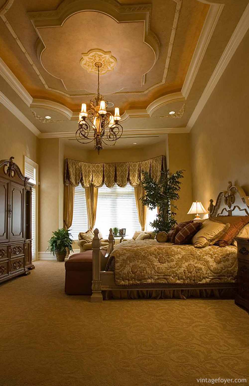 54 ways to spell luxury in master bedrooms for Master bed design images