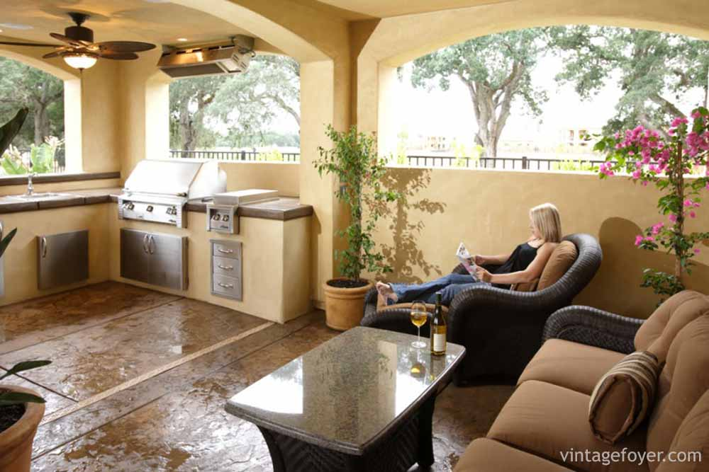 This Outdoor Kitchen Is A Great Place To Sit And Relax. All Of The Warm  Tones Mixed With Fresh Air And Natural Like Make This A Perfect Place To  Entertain ...