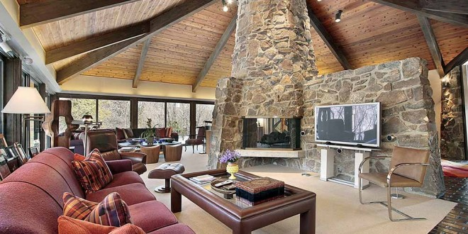 44 cozy living rooms cabins with beautiful stone fireplaces teraionfo