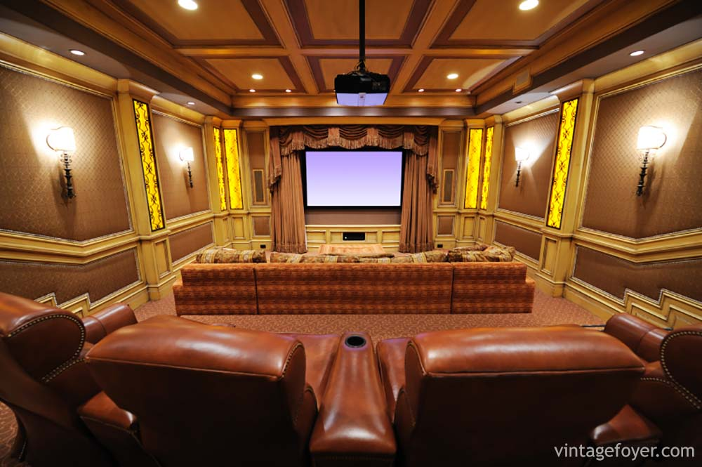 Home Theater Foyer : Stunning and inspirational home cenima design ideas