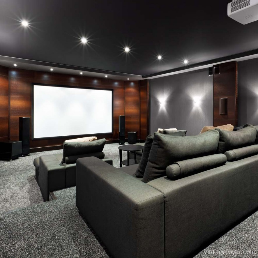 Home Theater Seat Design Ideas: 39 Stunning And Inspirational Home Cenima Design Ideas