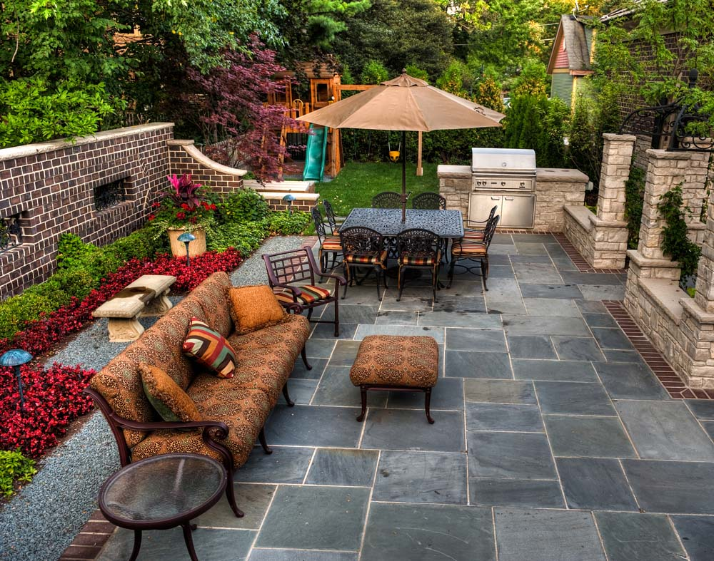 48 beautiful patio designs concrete flagstone and brick page