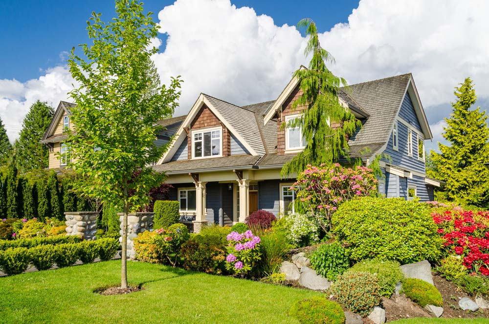 This Wraparound Yard Offers A Wide Variety Of Foliage U2013 Small, Medium And  Tall. Trimmed Hedges Line The Walkway. Colorful Shrubs Include Flowering  Hydrangea ...