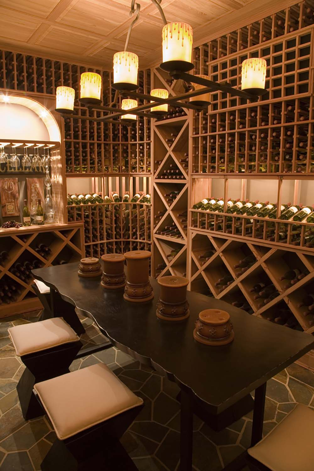 Luxury Wine Cellar : Custom luxury wine cellars photos