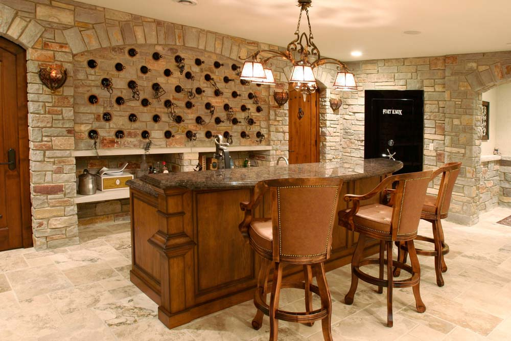 This Medieval Style Wine Cellar Has A More Unique Layout Set Up Like Bar Is Perfect For Tasting And Entertaining With Friends