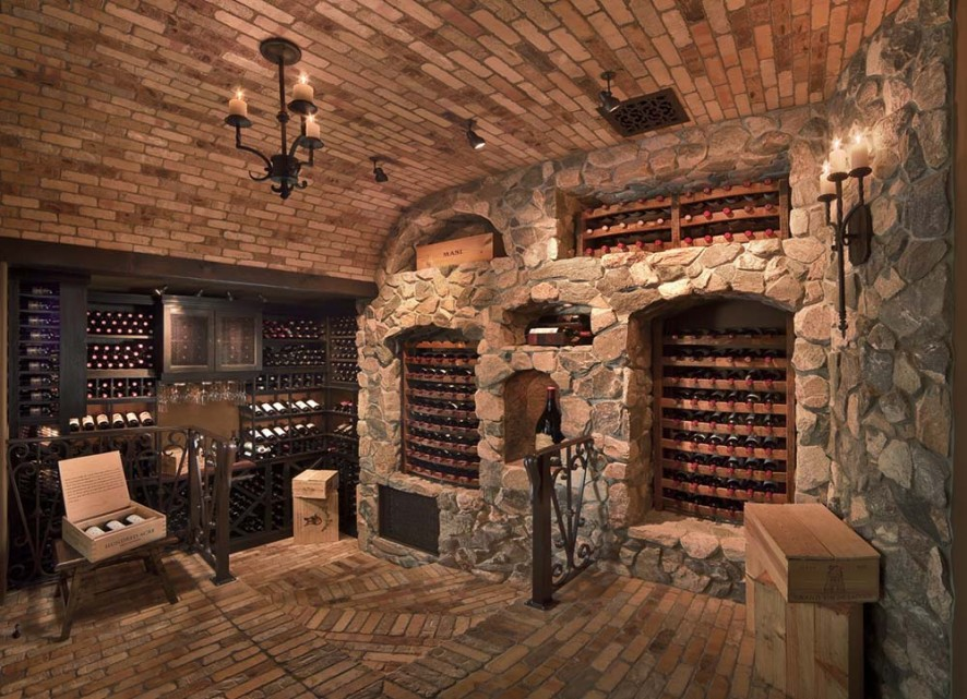 Custom luxury wine cellars 40 photos page 2 of 2 for Small basement wine cellar