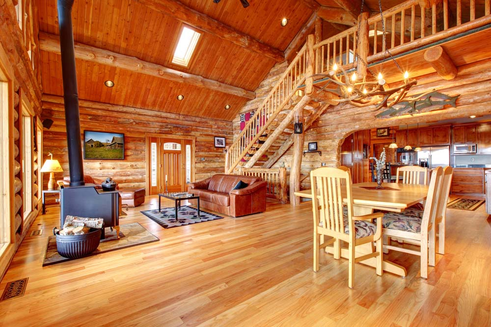 Beautifully Natural Log Home Interiors - Page 2 of 4