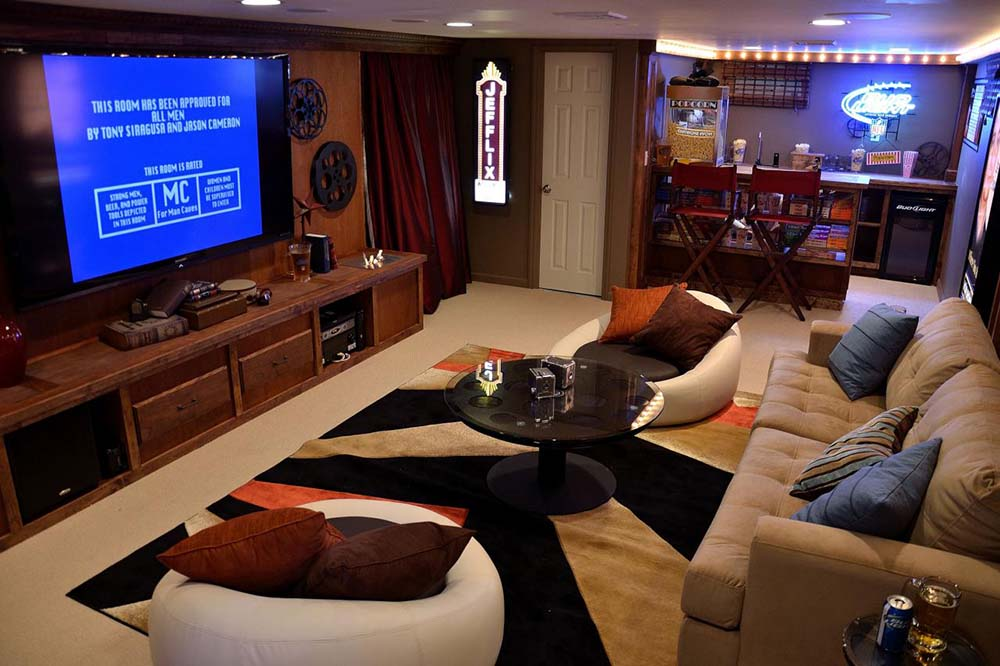 Ultimate Man Cave Show : Envy worthy finished basements man caves