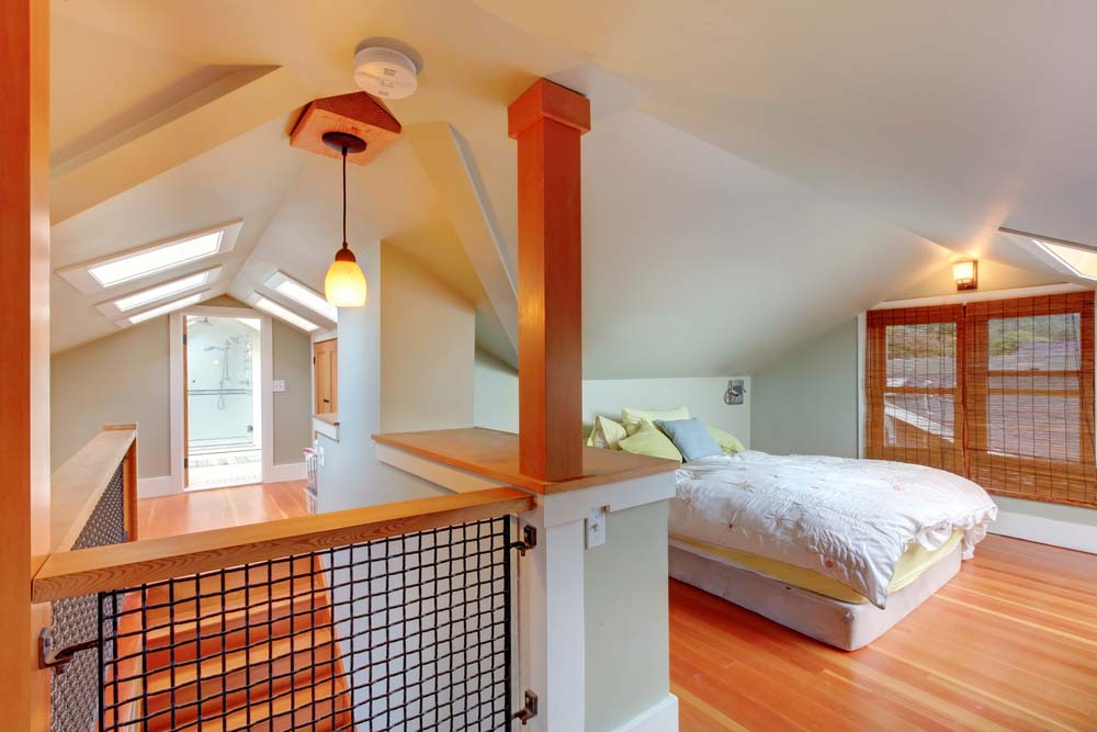 how to add lighting in foyer attic