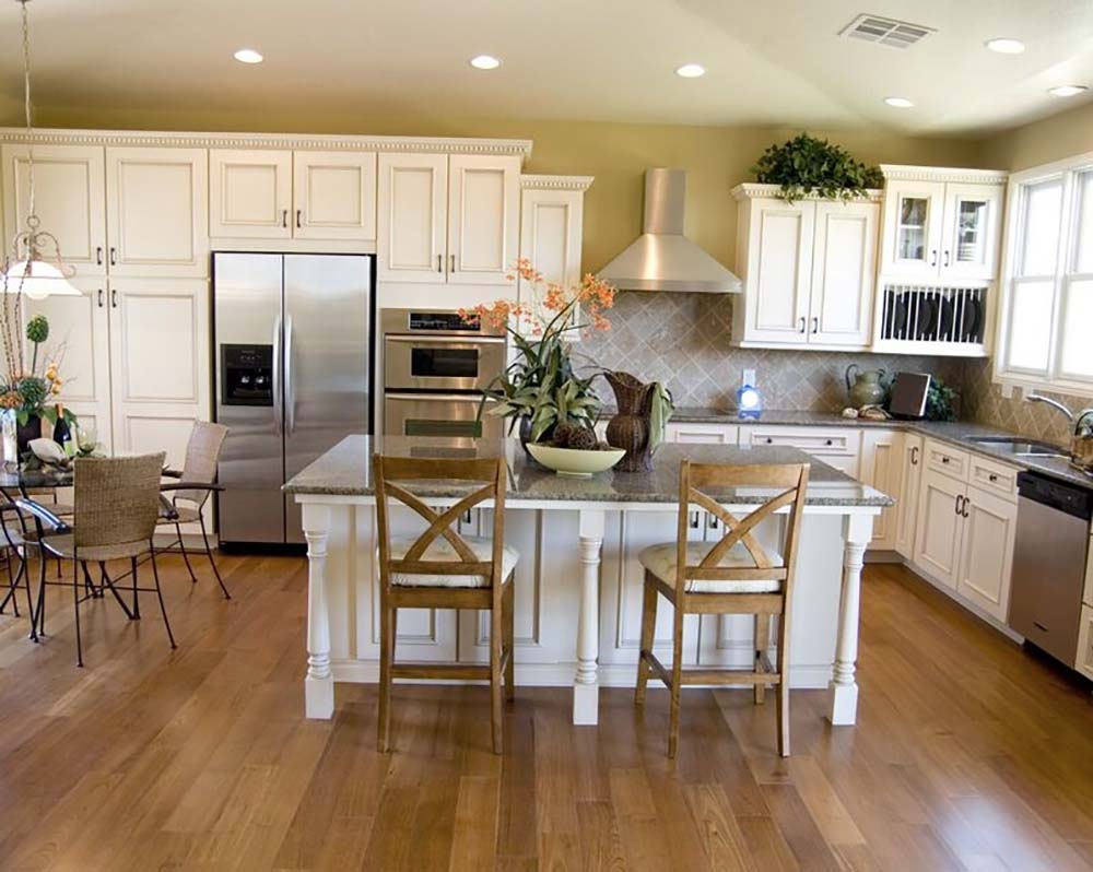 White Kitchen With Hardwood Floors Hardwood Flooring With White Cabinets Amazing Deluxe Home Design