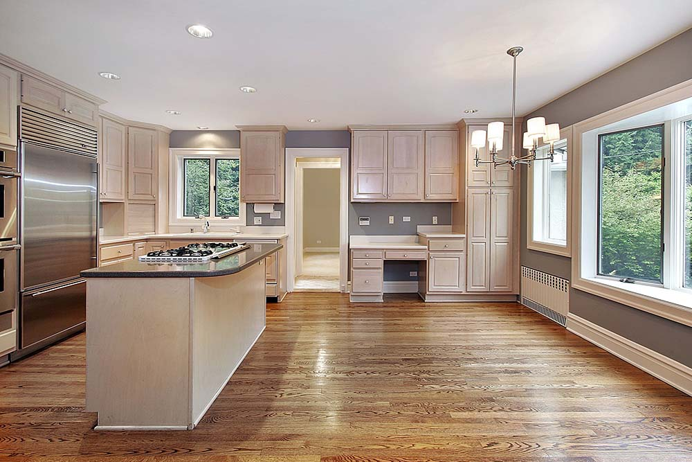 mesmerizing whitewashed oak kitchen cabinets | 77 Refreshing L-Shaped Kitchen Designs - Page 3 of 3