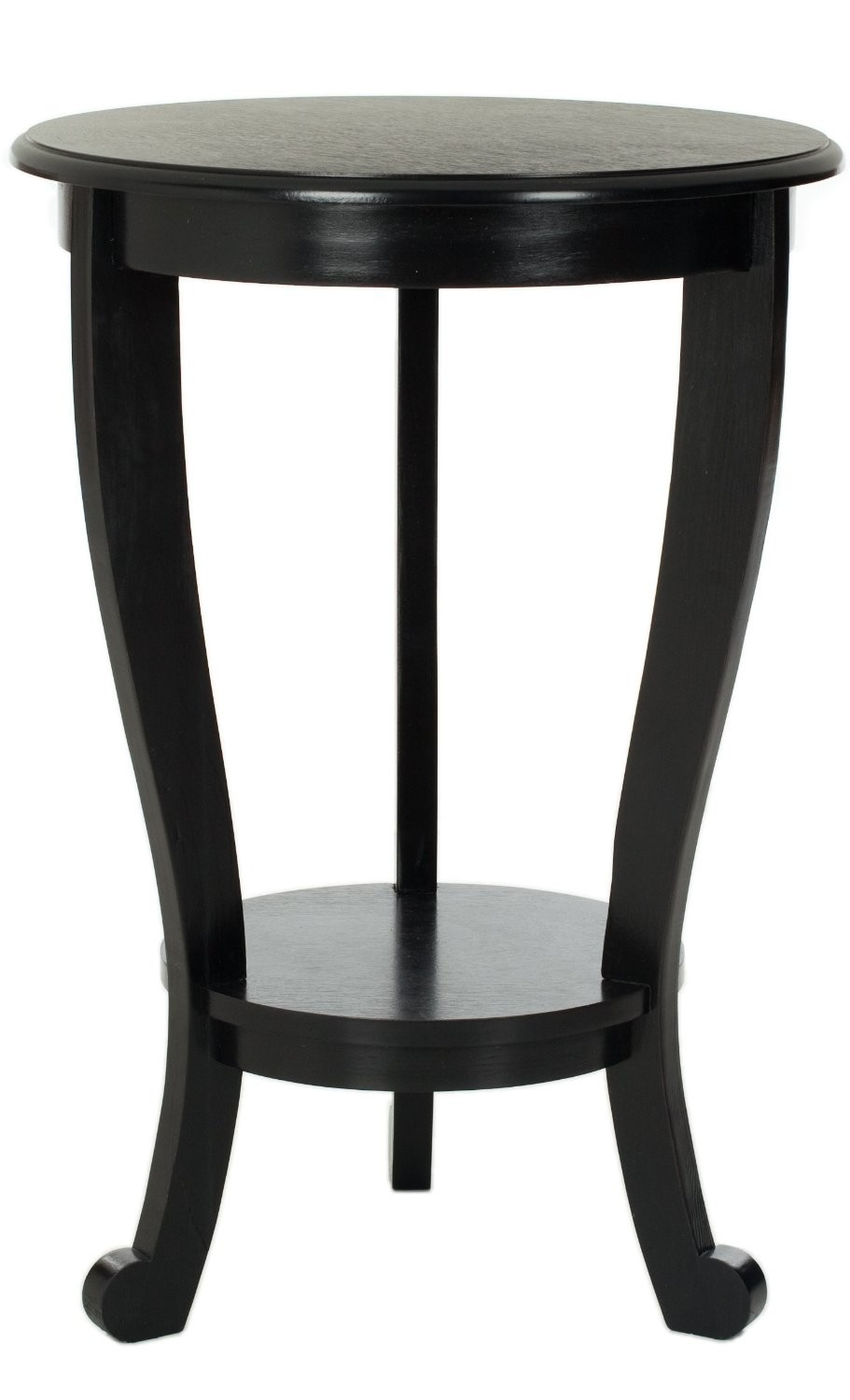 Safavieh American Home Collection Lexington Pedestal End Table, Distressed  Black